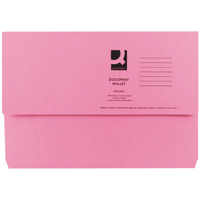Q-CONNECT PINK DOCUMENT WALLET 285G PK50