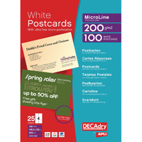 POST CARDS A4 SHEET 148.5 X 105MM